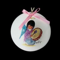 Angel Drummer Ornament 1