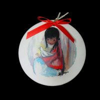 Girl with Dove Ornament 1