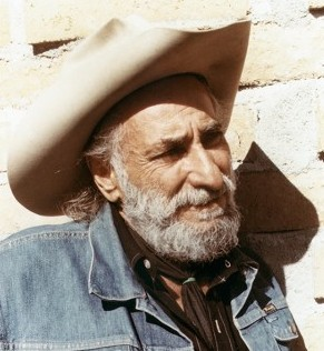 Ted DeGrazia outside studio