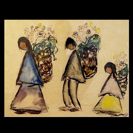 Untitled-Three Flower Vendors