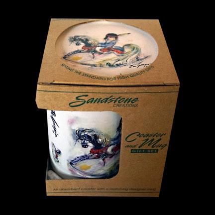 Beautiful Rocking Horse Mug & Coaster Set