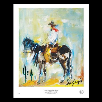Cowboy Rolling A Cigarette