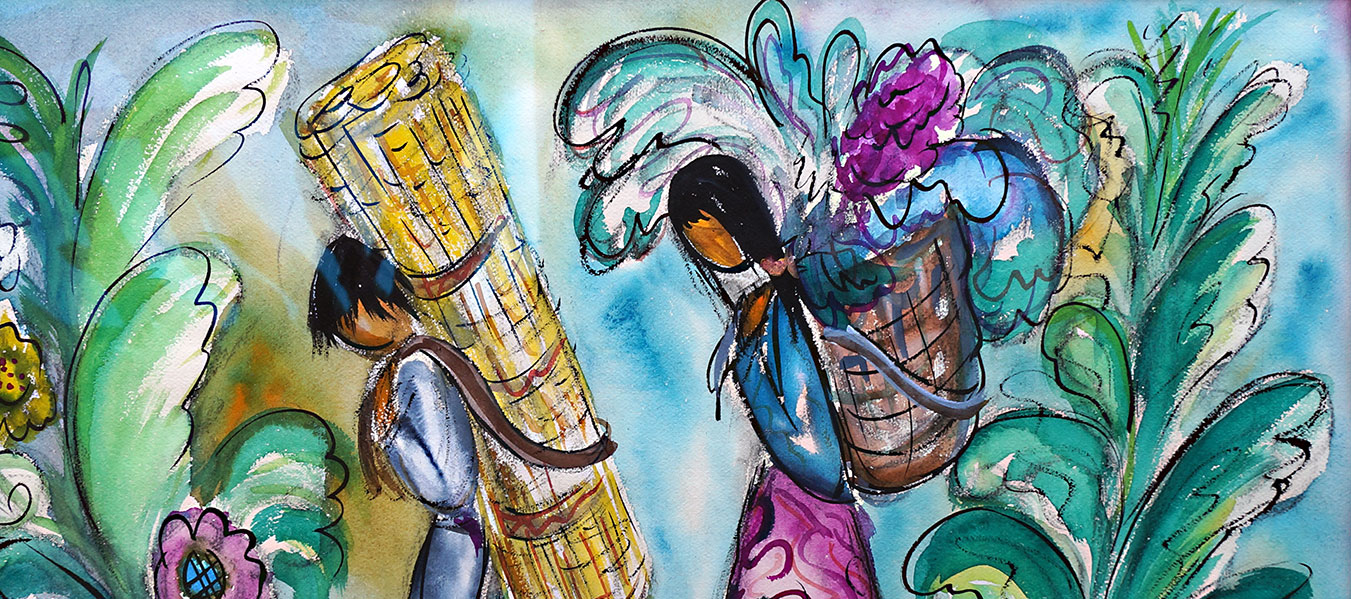 DeGrazia JungleWatercolor