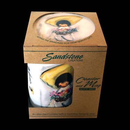 Flower Boy Mug & Coaster Set