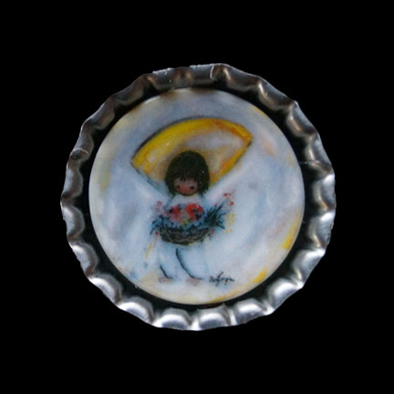 Mini Plate Flower Boy Necklace