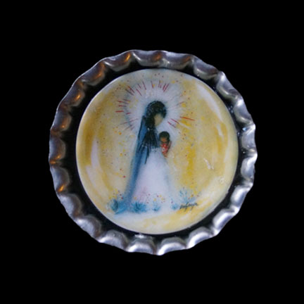 Mini Plate Little Madonna Necklace