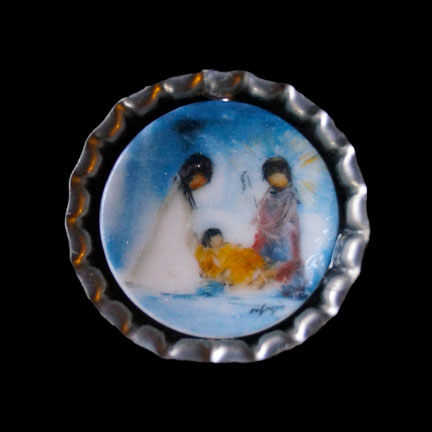 Mini Plate Nativity Necklace