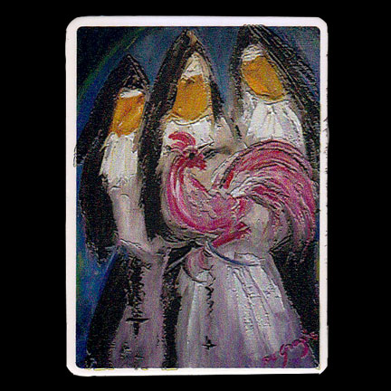 NunsWithRoosterMagnet