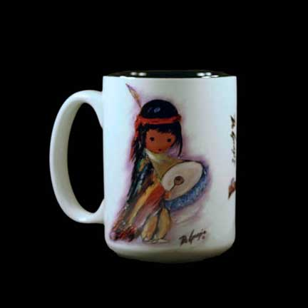 Pima Indian Drummer Boy Mug