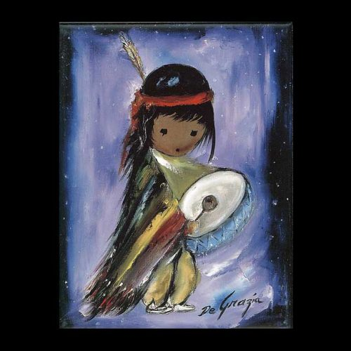 Pima Indian Drummer Boy Trivet
