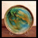 Ceramic Bowl Blue And Orange