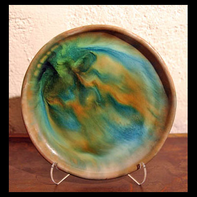 Ceramic Bowl Blue And Orange