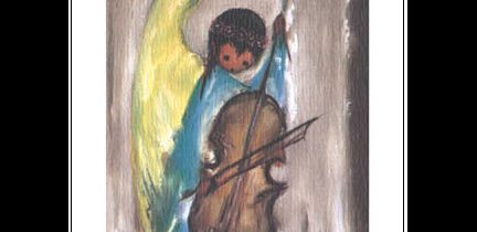 Angel Music Notecard