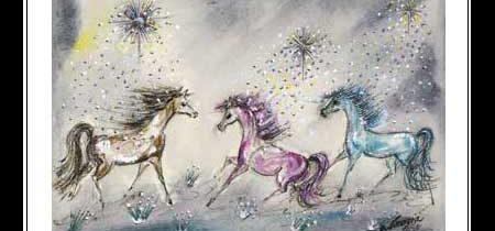 Magic Horses Notecard