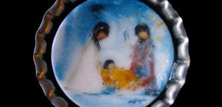 Mini Plate Nativity Necklace