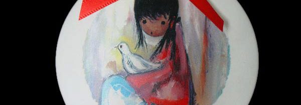 Girl with Dove Ornament
