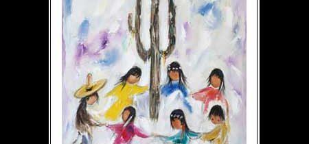 Saguaro Dancers Notecard