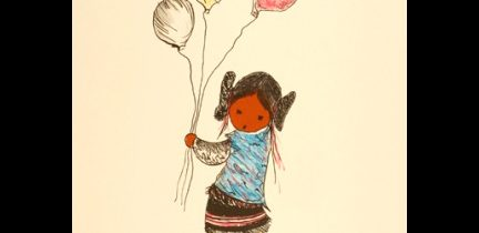 Pueblo Indian with Balloons