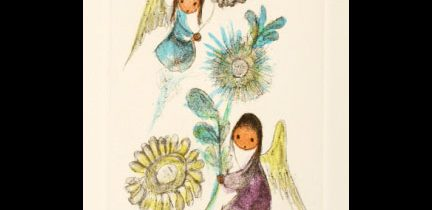 Two Angels with Flowers