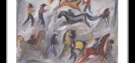Wild Horse Race Notecard